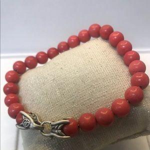 "🌼 DAVID YURMAN Spiritual Beads Coral Size 8.5"""
